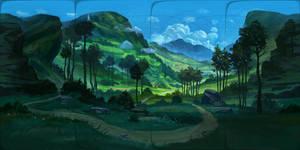 360 Panoramic Painting (Click to Pan around!)