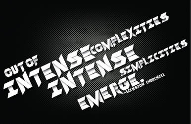 Intense Typography