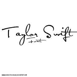 Taylor swift font