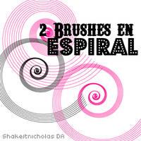 2 Brushes en espiral