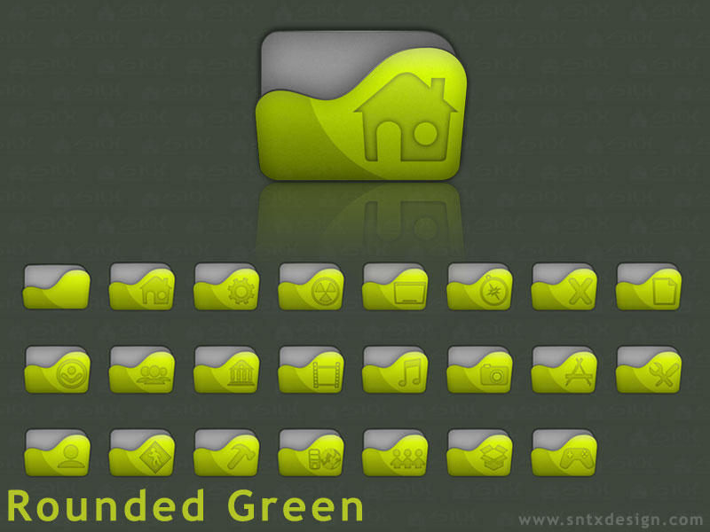Rounded Green by sntxdesign
