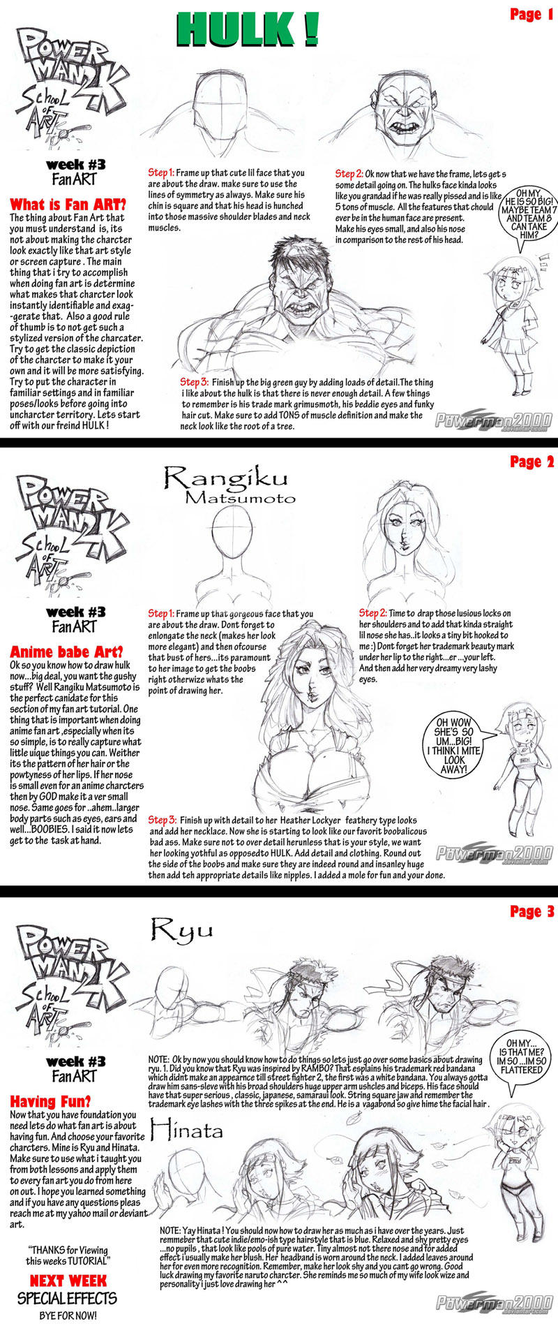 Tutorial: How to draw fanart by powerman2000