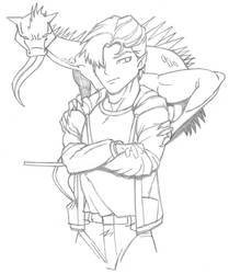 Wizard With Lizard Familiar by wydelode