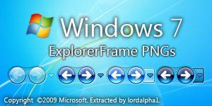 Windows 7 ExplorerFrame PNG