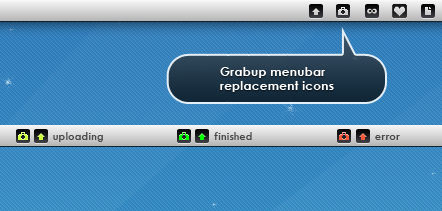 GrabUp Rounded Menubar Icons by ToffeeNut