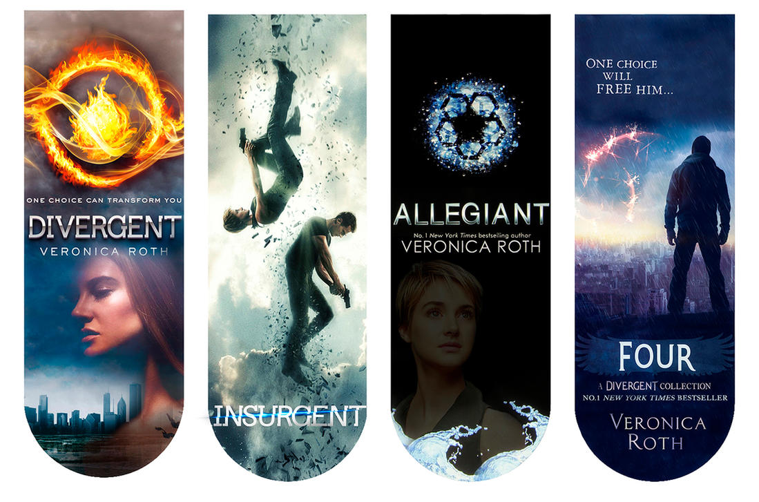 Divergent Book Cover Drawing : Divergent book covers bookmarkers by angiezinha on deviantart