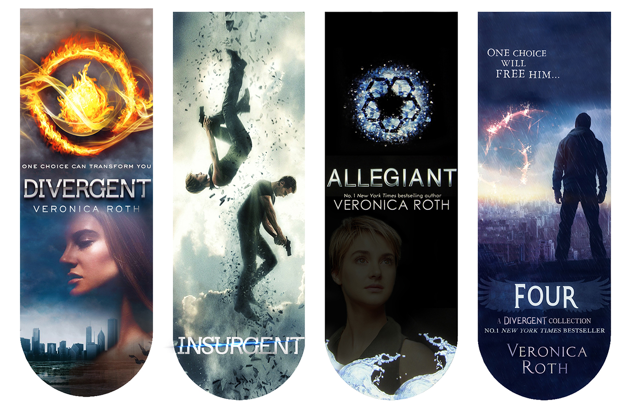 Divergent Book Cover Drawing ~ Divergent book covers bookmarkers by angiezinha on deviantart