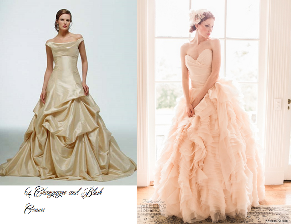 Stunning Wedding Dresses In Beige And Blush: 64 Champagne And Blush Wedding Gowns Photo Pack By