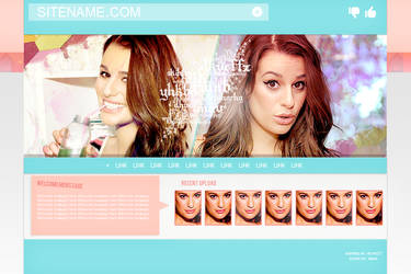 Lea Michele header #2 PSD by ShayMoreHeya