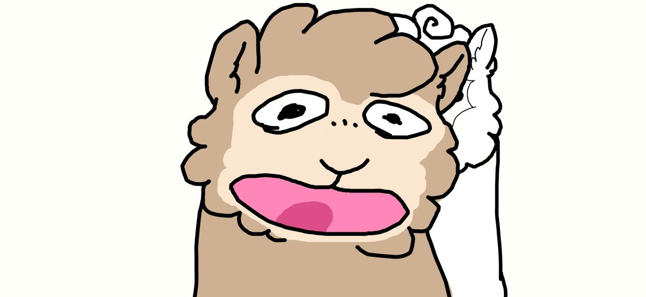 *alpaca screaming* by SpazzinCat