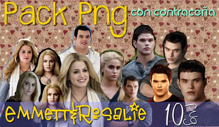 Pack png Emmet Y Rosalie . Con contracenia by CaamiKS