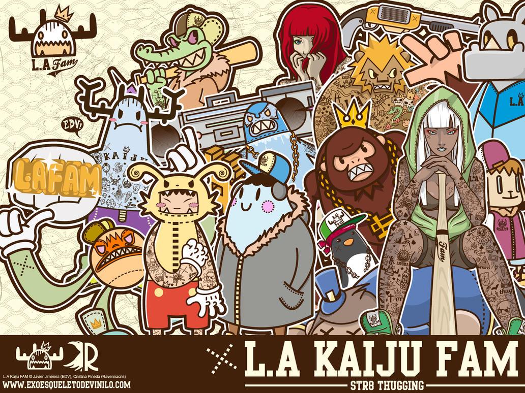 600 watchers. thank you. l.a kaiju fam wallpaperexoesqueletodv
