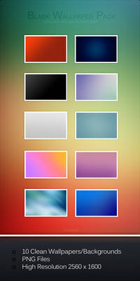 Blank Wallpaper Pack