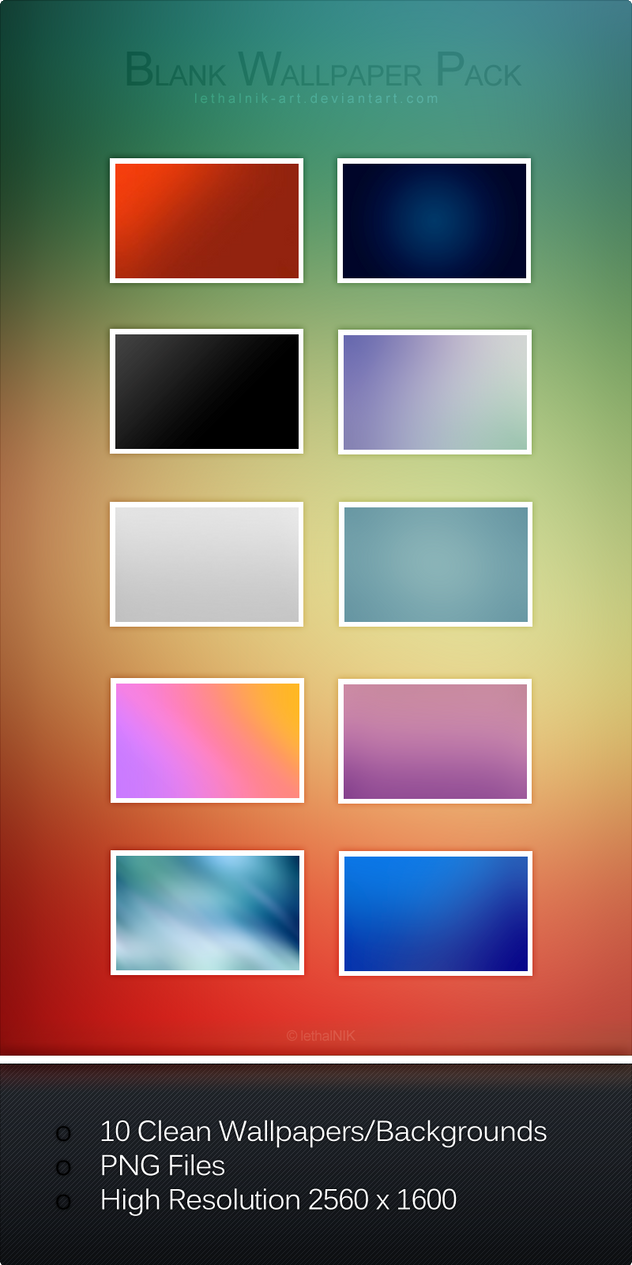 Blank Wallpaper Pack by lethalNIK-ART