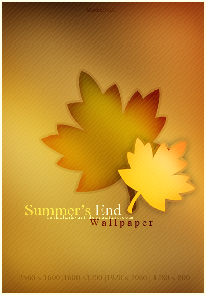 Summer's End Wallpaper by lethalNIK-ART