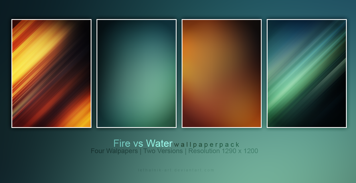Fire vs Water Wallpaper by lethalNIK-ART