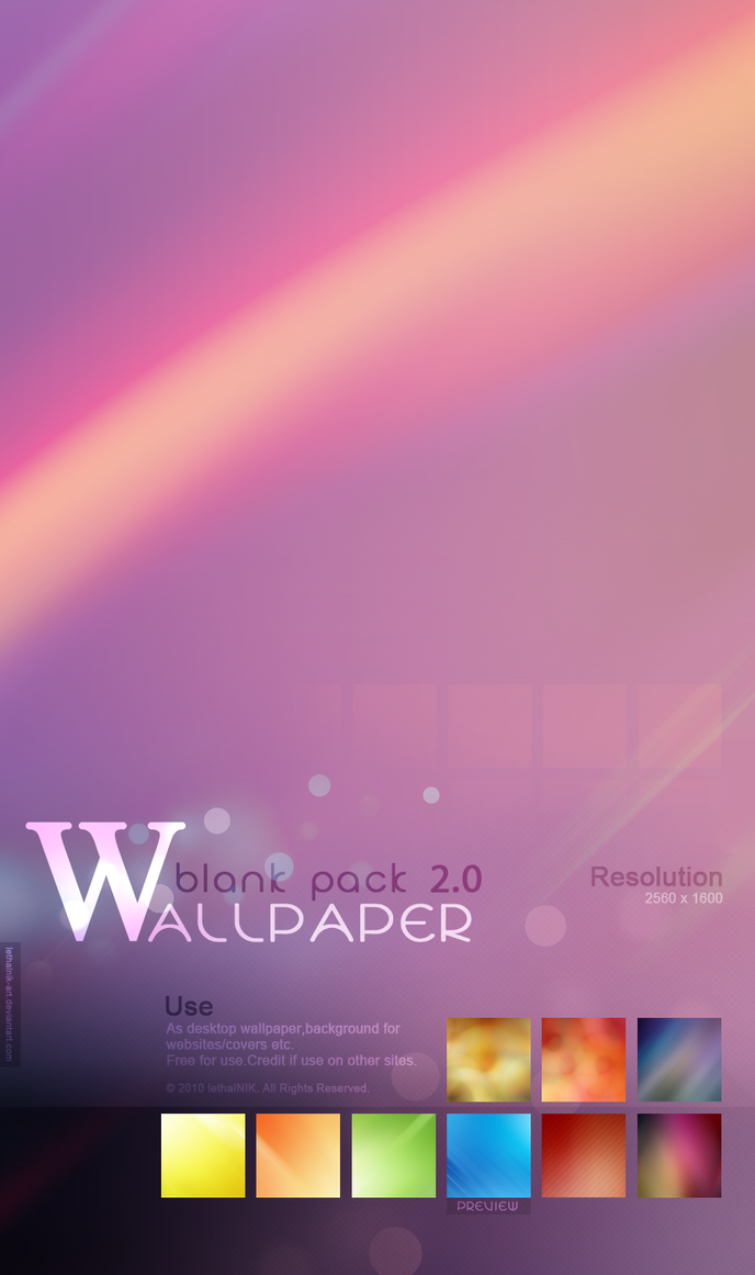 Blank Wallpaper Pack 2.0 by lethalNIK-ART
