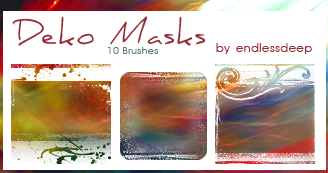 Deko Mask brushes for icons by endlessdeep