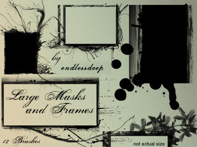 Large Masks and Frames by endlessdeep