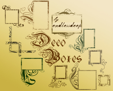 Small Deco Boxes for icons by endlessdeep