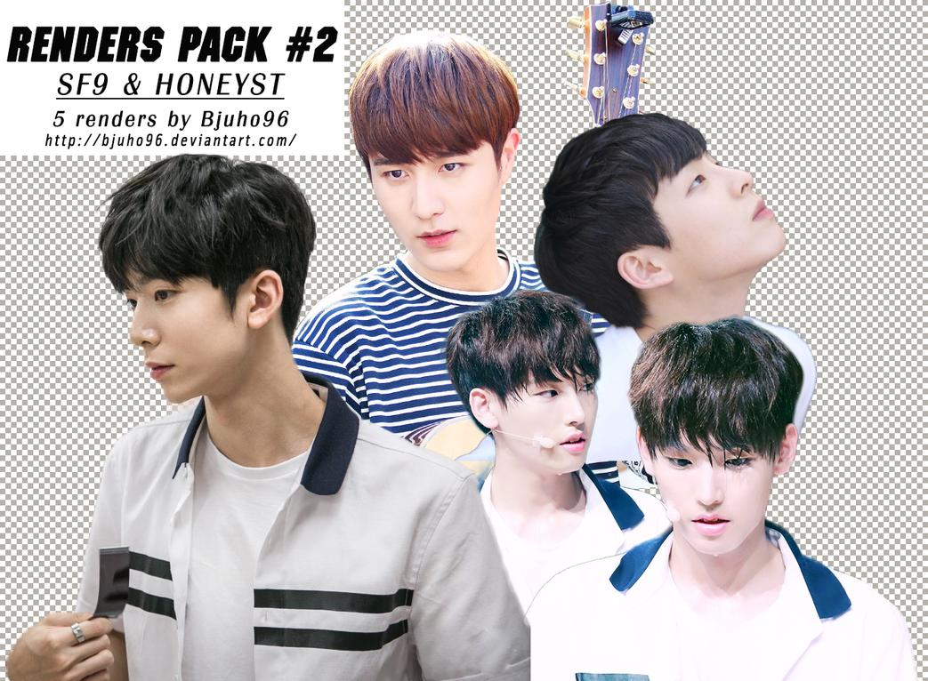 [Renders Pack #2] SF9 ~ HONEYST by bjuho96