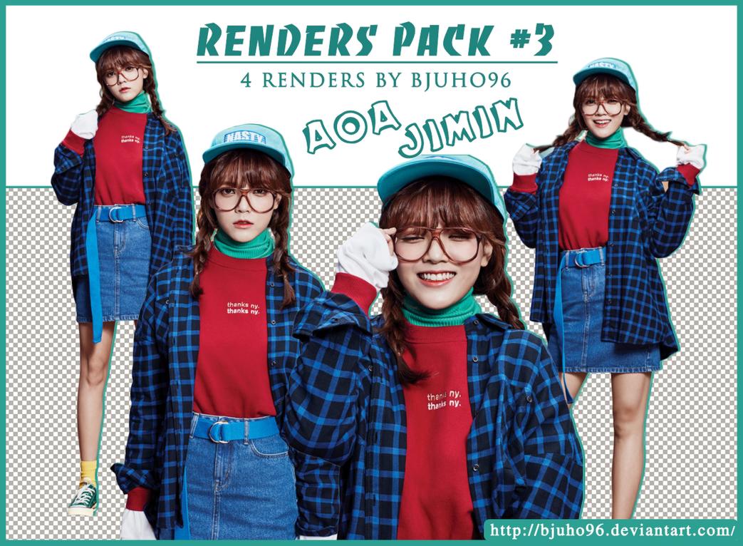 [Renders Pack #3] AOA Jimin by bjuho96