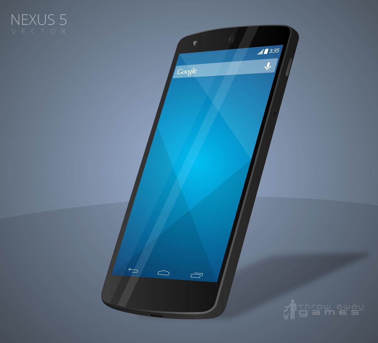 Free Nexus 5 Vector: Downloadable AI by walcor