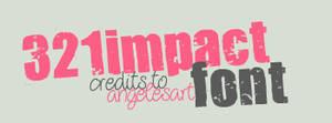 321 Impact Font