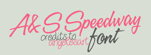 AyS Speedway Font by angelesart