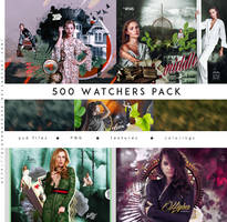 500 FREE WATCHERS PACK by Diaphanerose