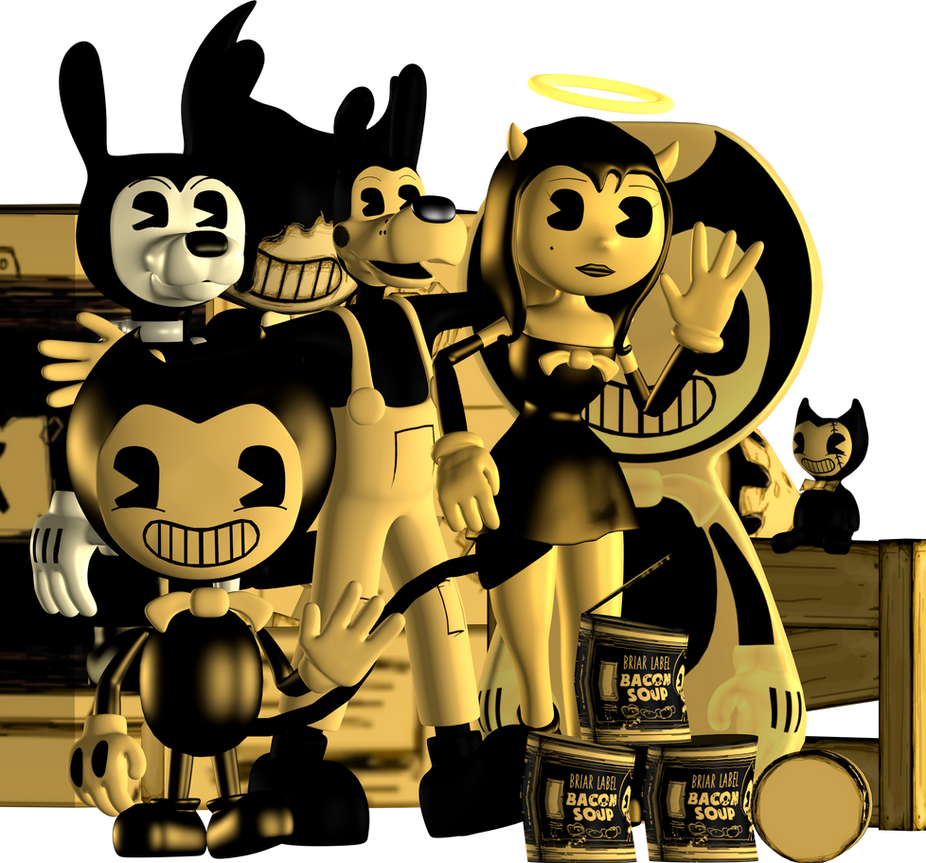 blender internal bendy and the ink machine pack by austinthebear on