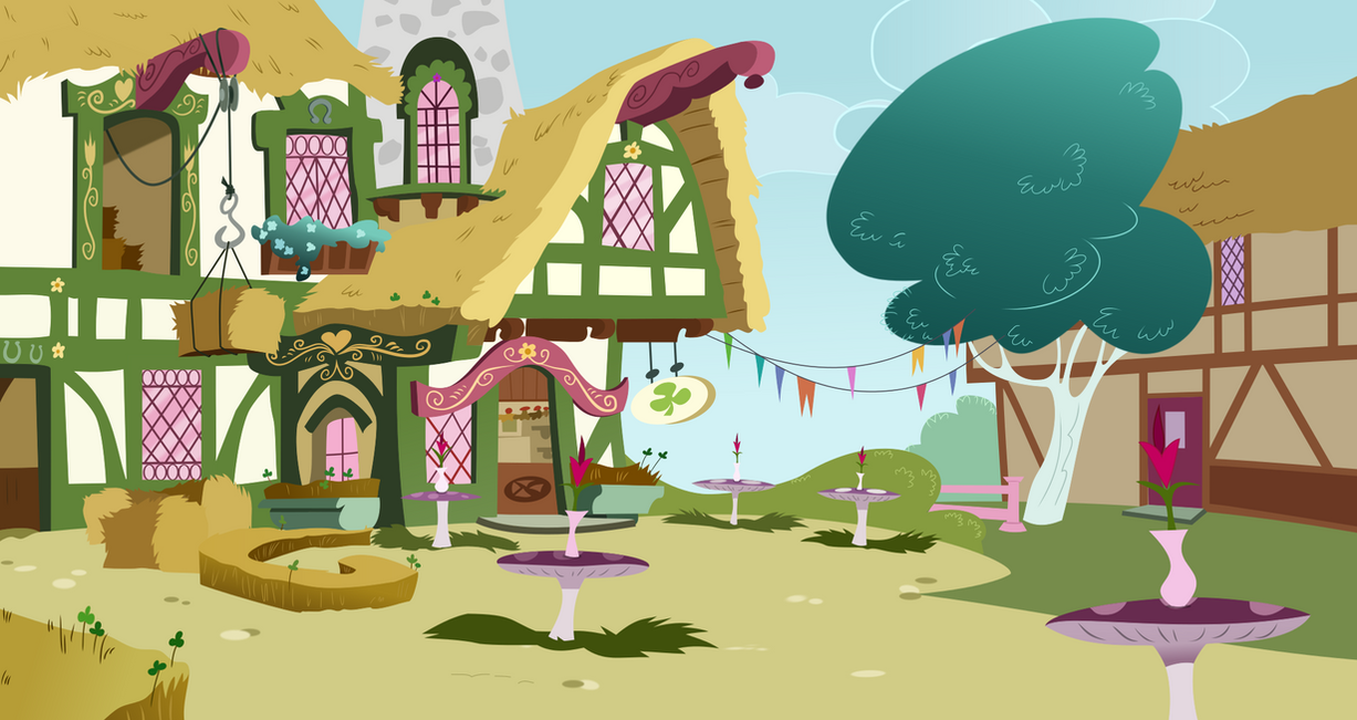 The Clover Cafe (background) by Archive-Alicorn on DeviantArt