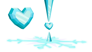 Crystal Heart + Mount (Vector Survey Vectors #1) by gwennie-chan