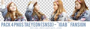 4 PNGs Taeyeon - IGAB Fansign_by Mynie by bttmy