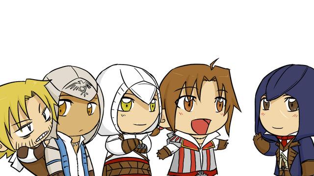 Altair and ezio chibi