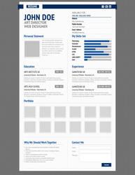 Aurel Resume Premium Template by bluepitox