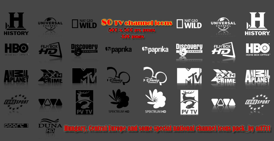 TV Channel icons pack