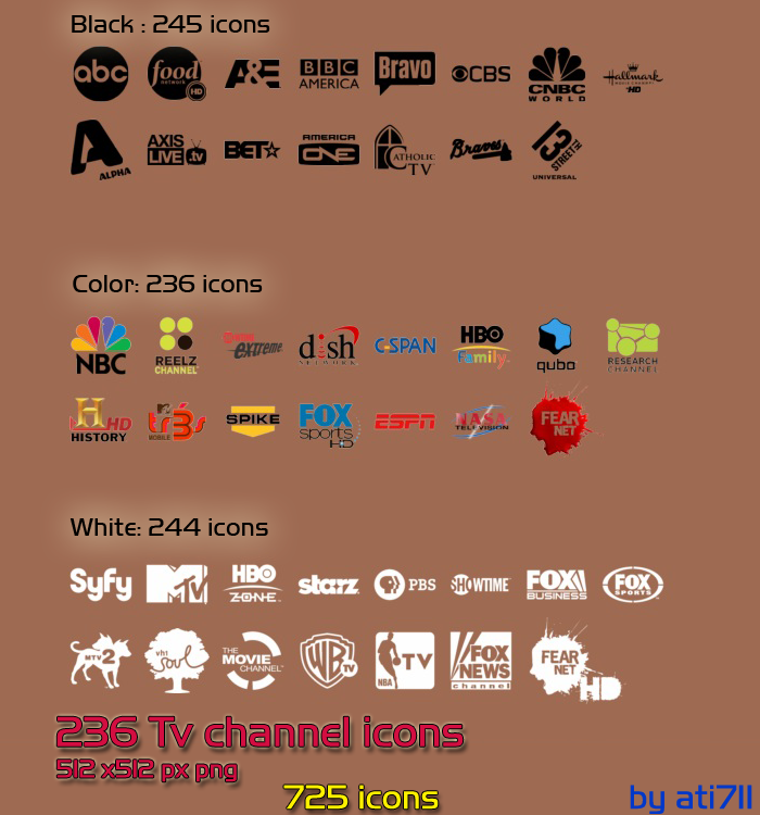 Tv Channel Icons Pack By Ati711 On Deviantart
