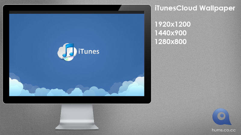 iTunesCloud Wallpaper by ChrisVme