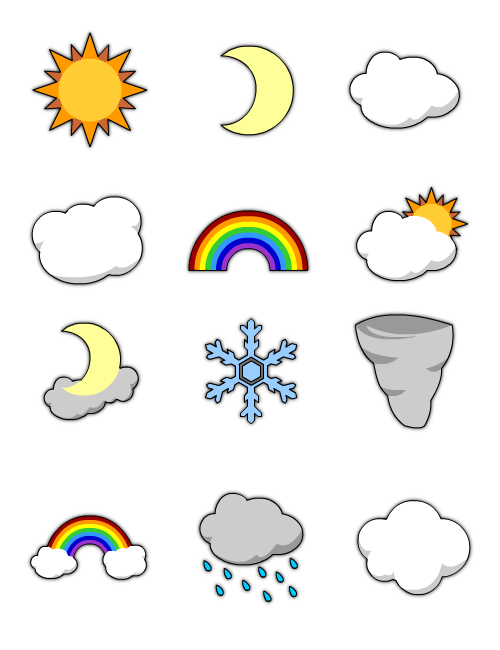 Weather Images by YeOldeVectorShoppe