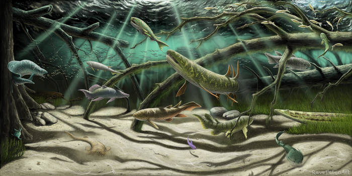 Late Devonian Miguasha ecosystem