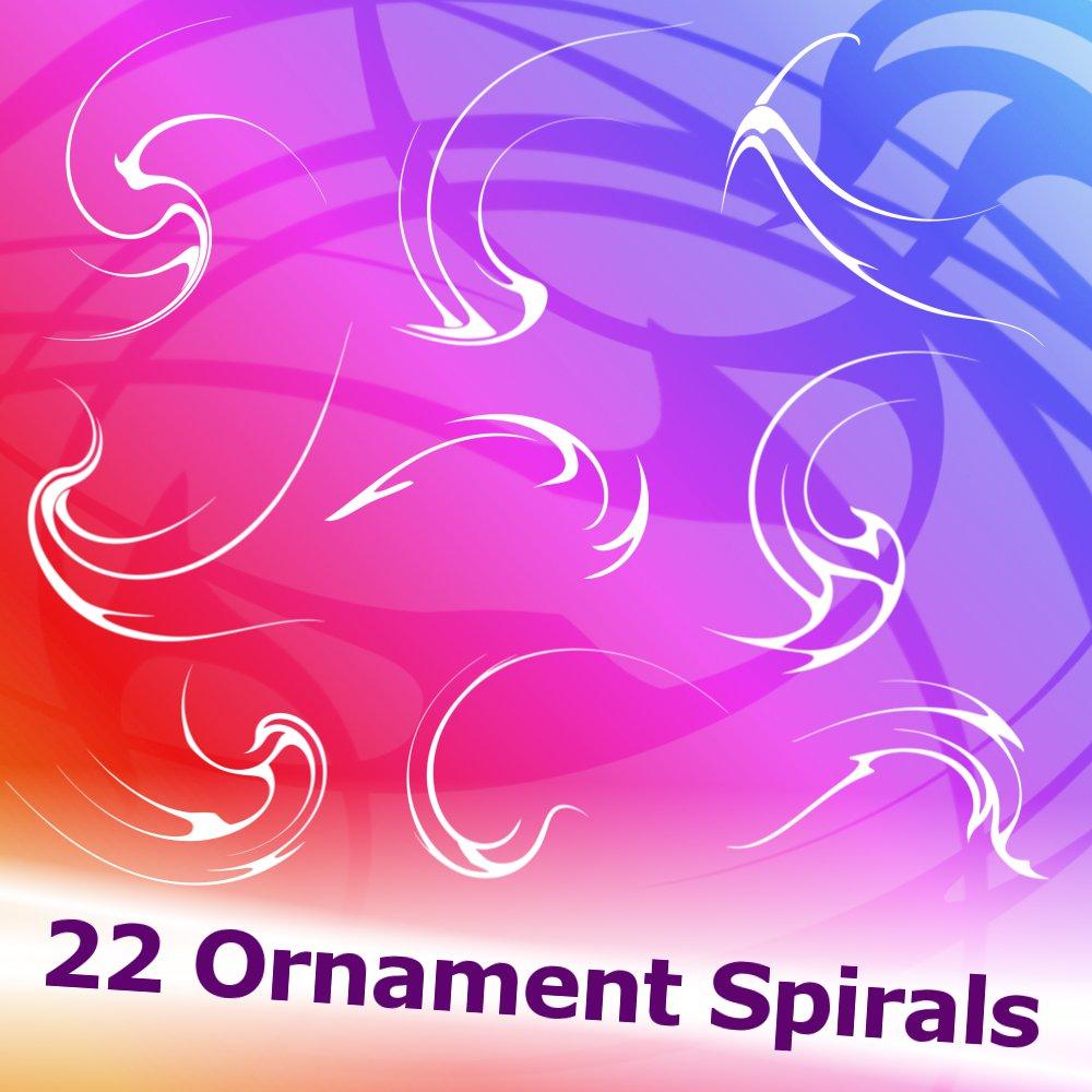 22 Ornament Spirals Brushes