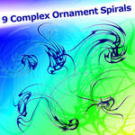 9 Complex Ornament Spirals