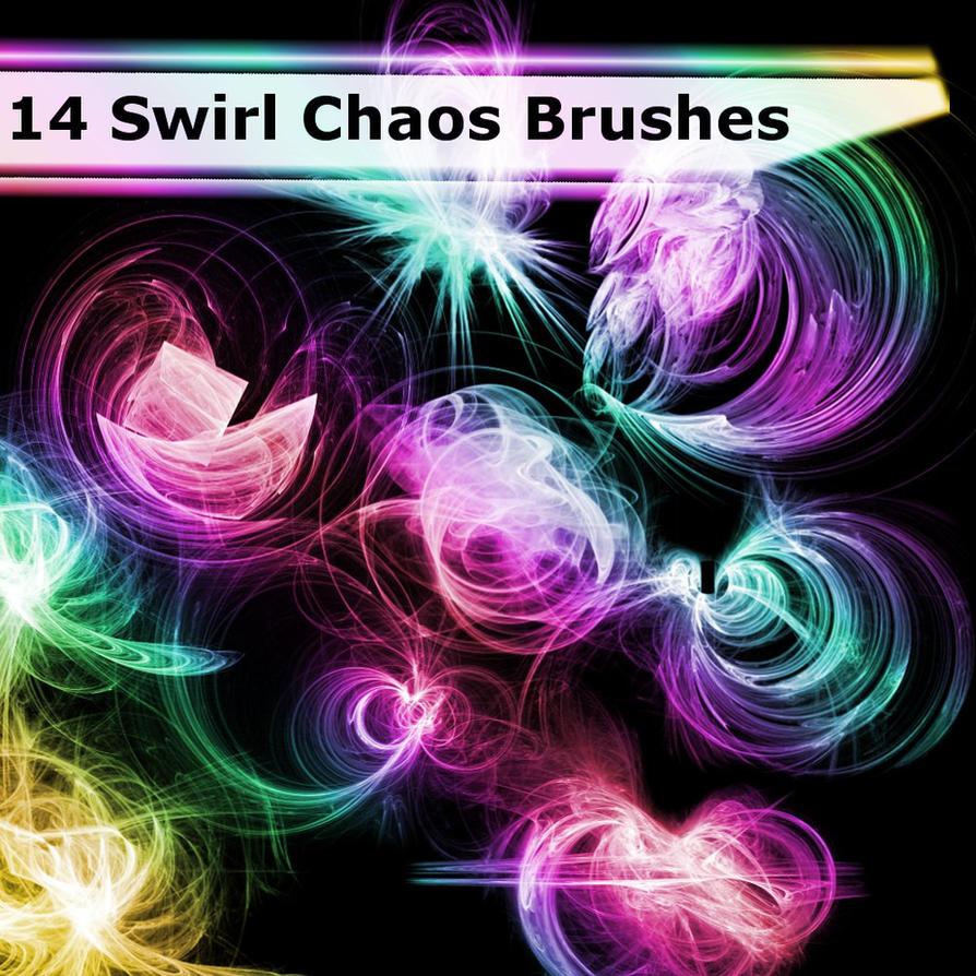 14 Swirl Chaos Brushes by XResch