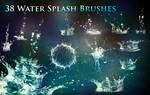 38 Water Splash Brushes by XResch