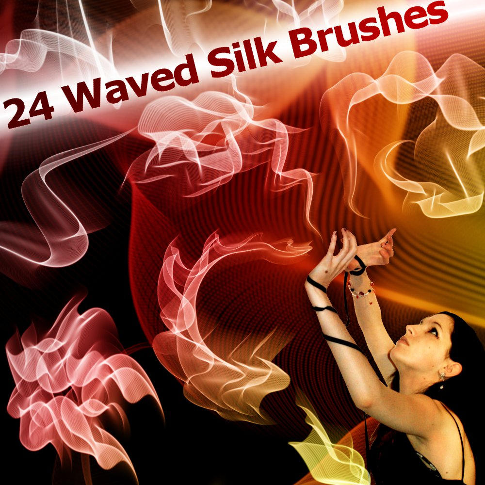 24 Waved Silk Brushes by XResch