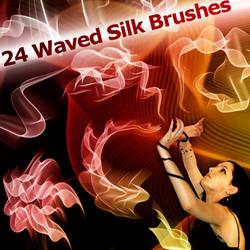 24 Waved Silk Brushes by XResch