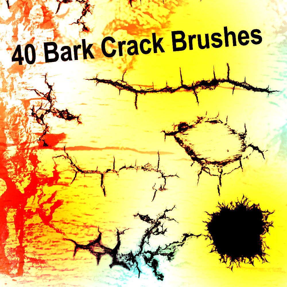 40 Bark Crack Brushes by XResch