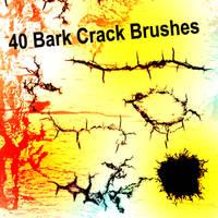 40 Bark Crack Brushes by XResch