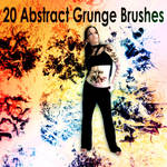 20 Abstract Grunge Brushes